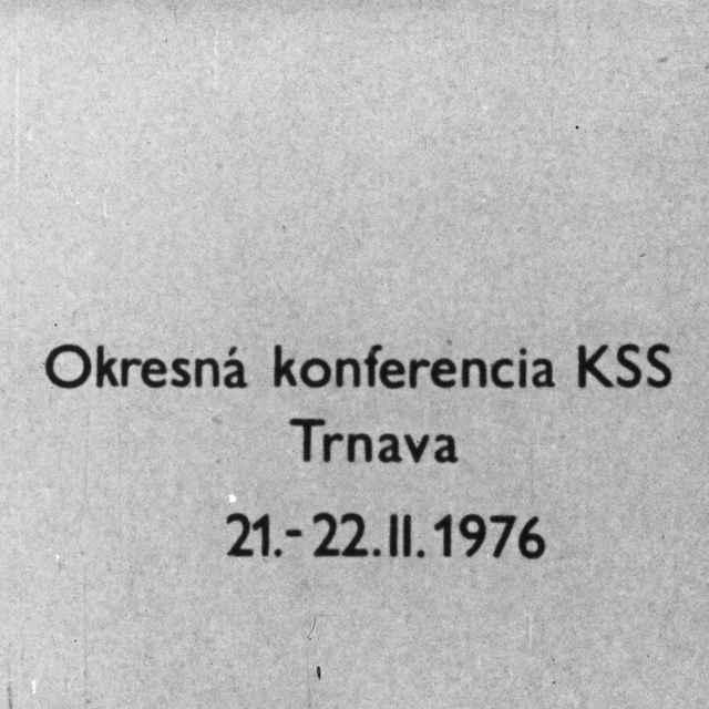 Okresná konferencia KSS - Kvašňák, Viliam