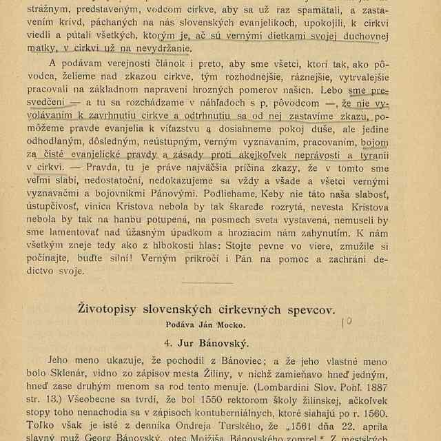 Zivotopisy Slovenskych Cirkevnych Spevcov Slovakiana