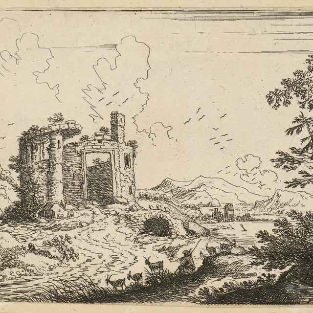 Krajina s pastierom kôz - Matheu, Cornelius