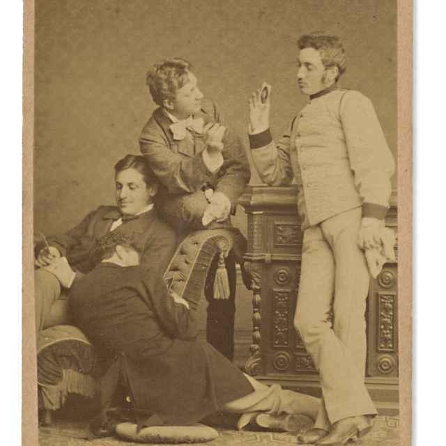 Skupina štyroch mužov - Divald, Karol