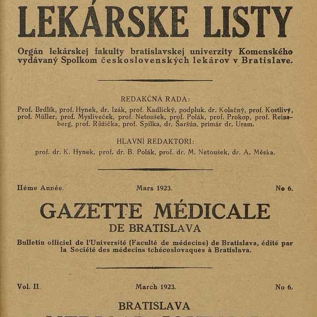 Bratislavské lekárske listy