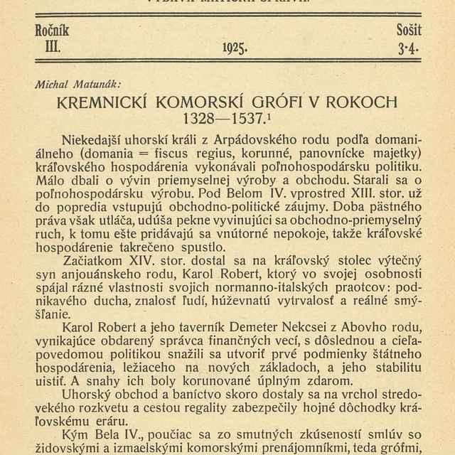 Sborník Matice slovenskej