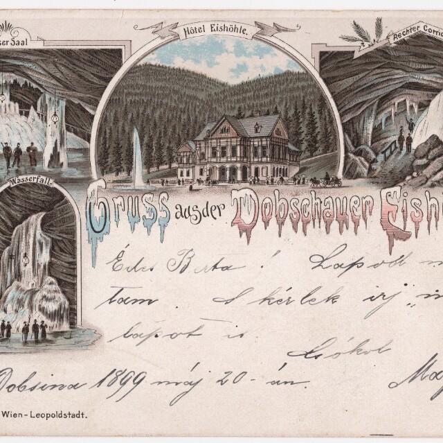Fotografie a pohľadnice Dobšinskej ľadovej jaskyne