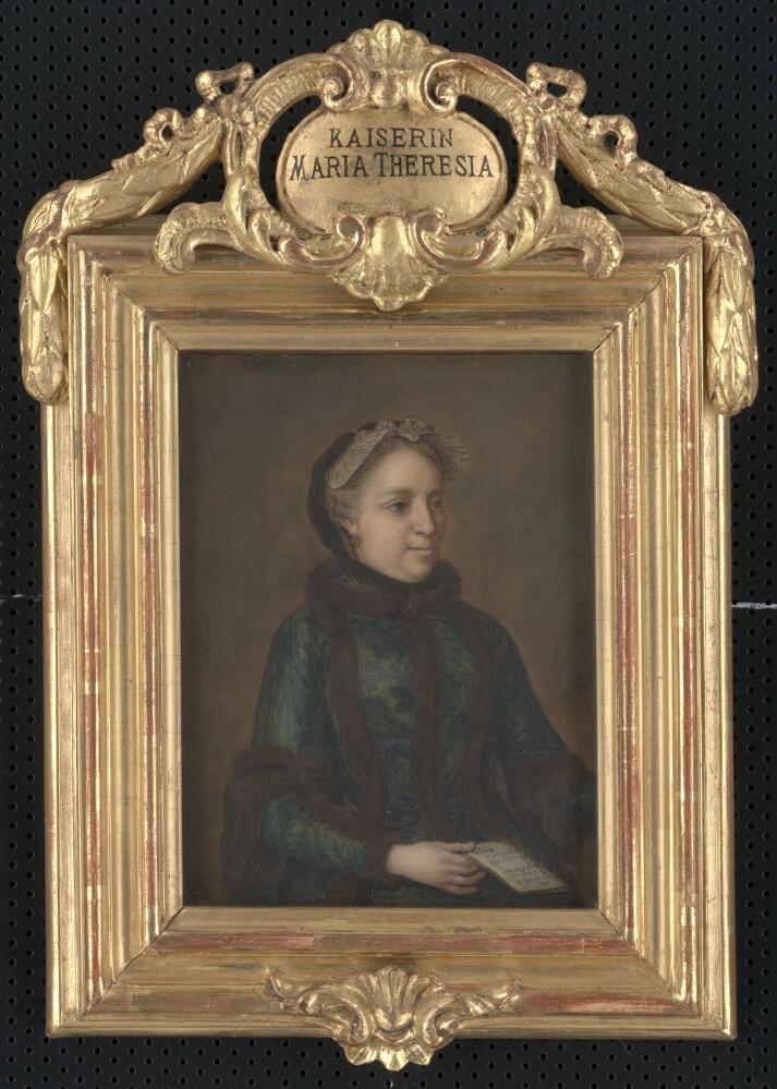 Obraz, Mária Terézia, cisárovná, autor: Mária Kristína, olejomaľba, 2.pol.18.stor., zarámované