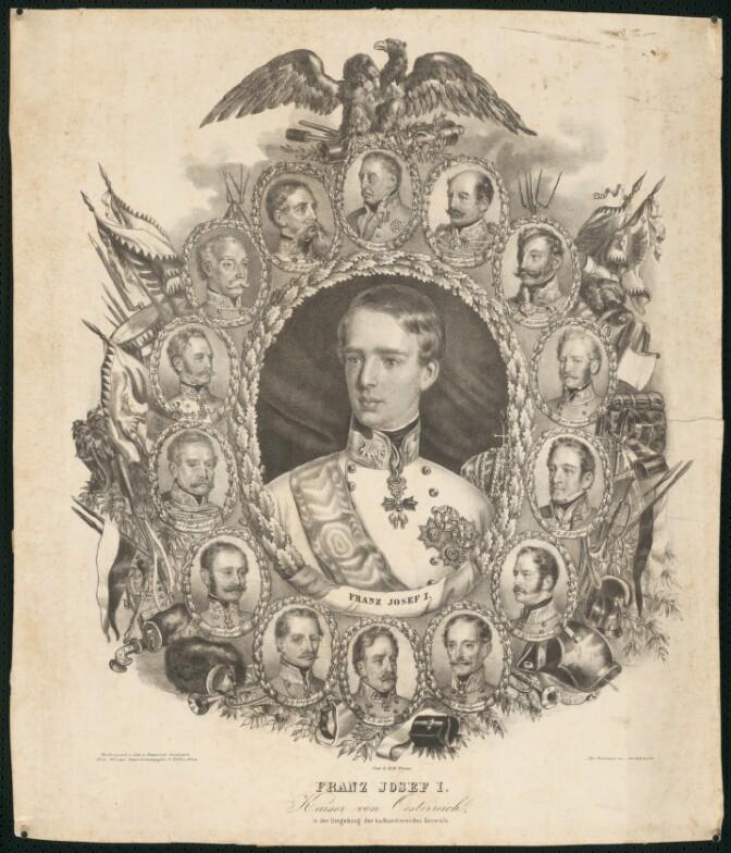 Litografia, František Jozef I. a generáli