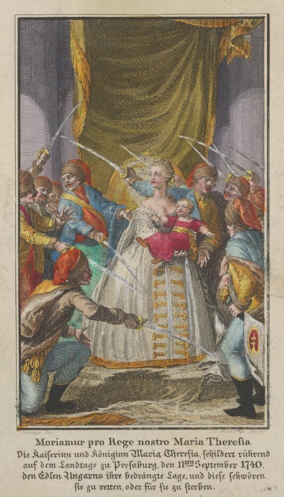 Mária Terézia na uhorskom sneme 1741