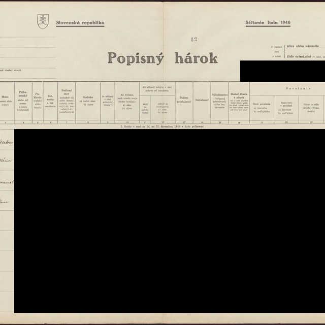 Sčítací hárok 1044/11764, Babín (Námestovo)