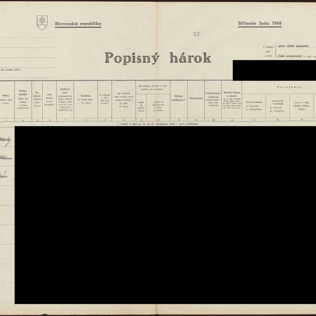 Sčítací hárok 1044/12753, Babín (Námestovo)