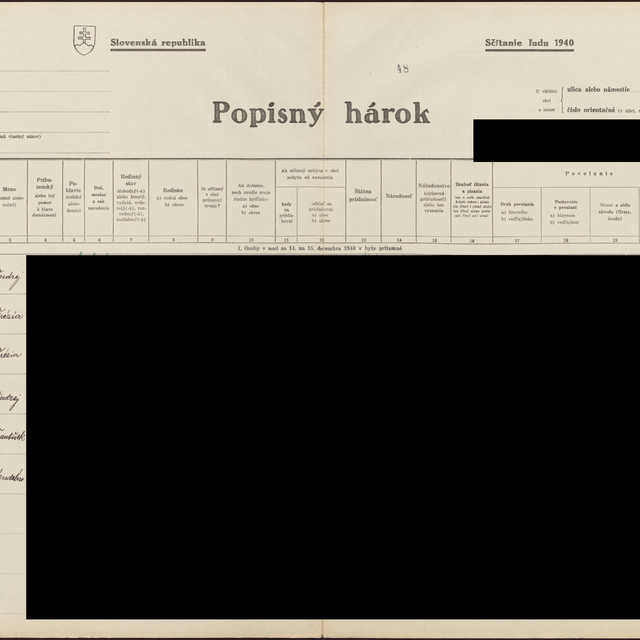 Sčítací hárok 1044/13149, Babín (Námestovo)