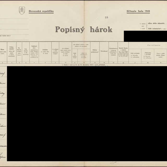 Sčítací hárok 1044/13347, Babín (Námestovo)