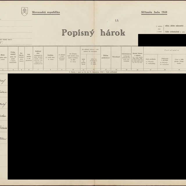 Sčítací hárok 1044/13545, Babín (Námestovo)