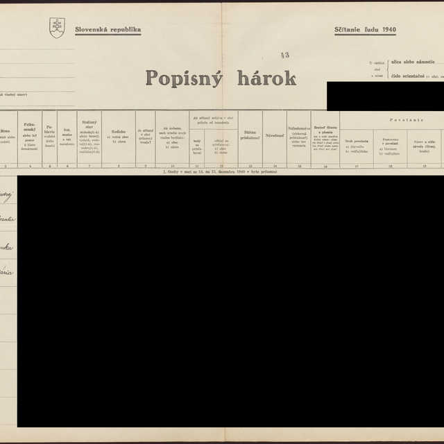 Sčítací hárok 1044/13644, Babín (Námestovo)