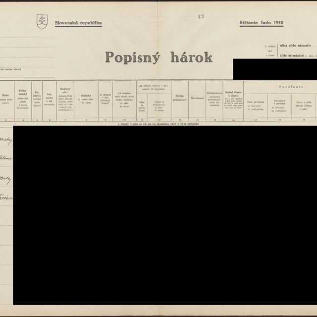 Sčítací hárok 1044/13743, Babín (Námestovo)