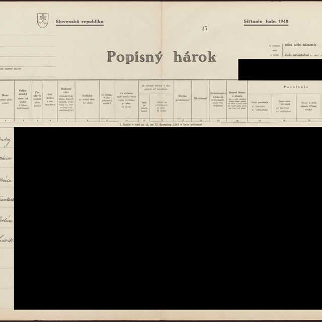 Sčítací hárok 1044/14238, Babín (Námestovo)