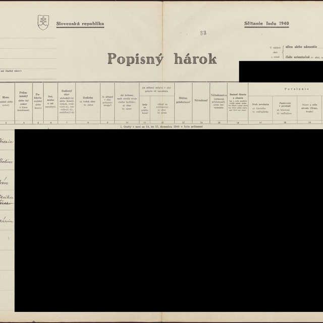 Sčítací hárok 1044/14634, Babín (Námestovo)