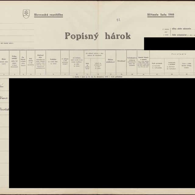 Sčítací hárok 1044/14832, Babín (Námestovo)