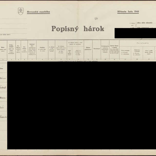 Sčítací hárok 1044/15030, Babín (Námestovo)
