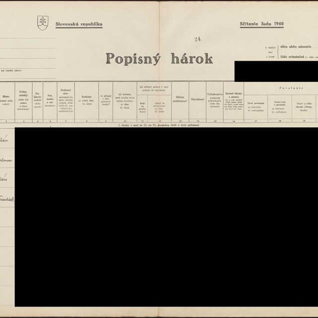 Sčítací hárok 1044/15525, Babín (Námestovo)