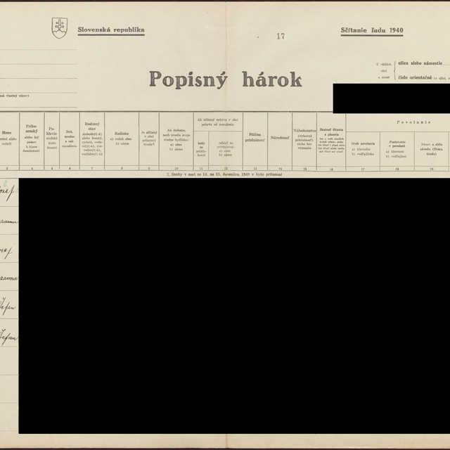 Sčítací hárok 1044/16218, Babín (Námestovo)