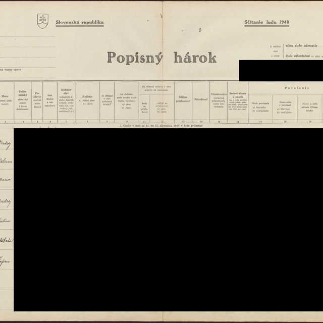 Sčítací hárok 1044/17010, Babín (Námestovo)