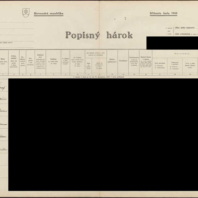 Sčítací hárok 1044/1728, Babín (Námestovo)