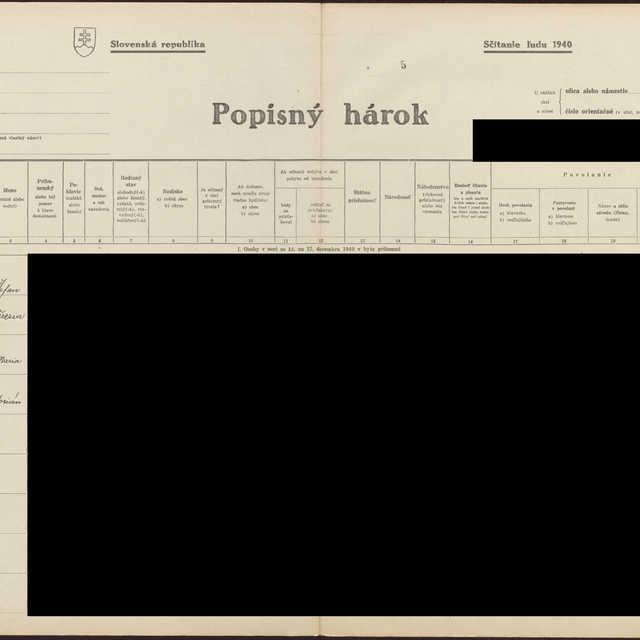 Sčítací hárok 1044/1746, Babín (Námestovo)