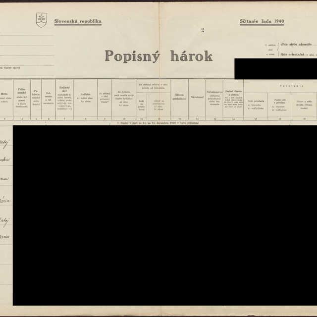 Sčítací hárok 1044/1773, Babín (Námestovo)
