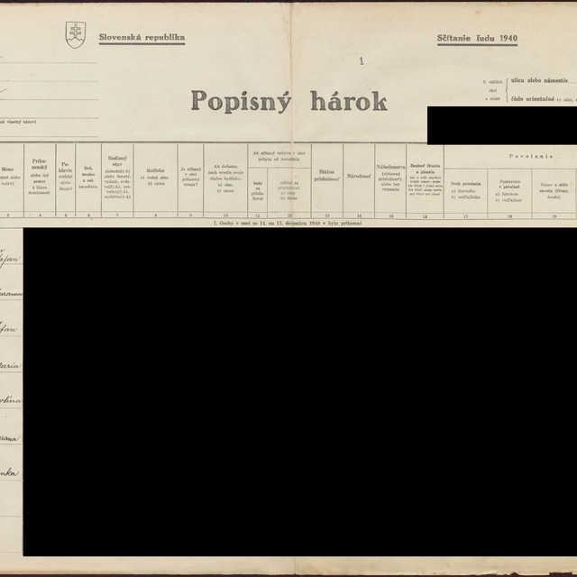 Sčítací hárok 1044/1781, Babín (Námestovo)