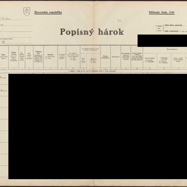 Sčítací hárok 1714/13819, Hencovce (Vranov nad Topľou)