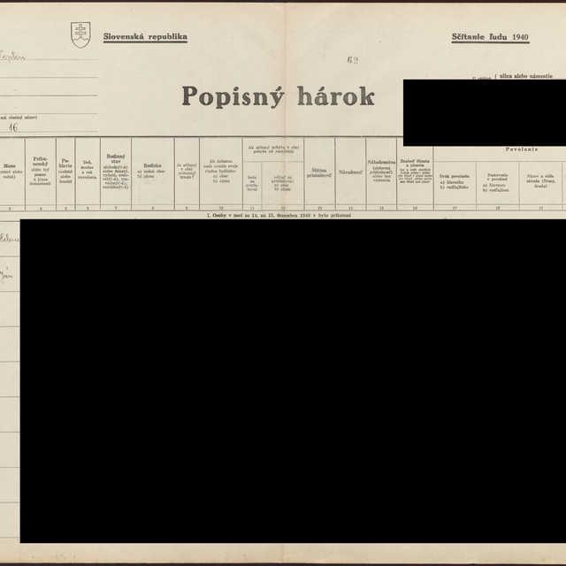 Sčítací hárok 1714/14116, Hencovce (Vranov nad Topľou)
