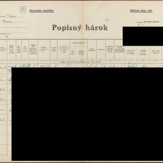 Sčítací hárok 1714/14413, Hencovce (Vranov nad Topľou)