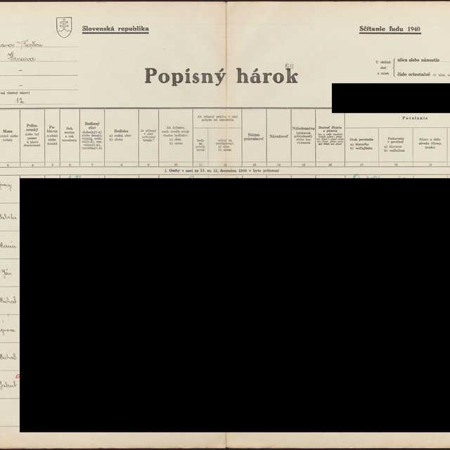 Sčítací hárok 1714/14512, Hencovce (Vranov nad Topľou)