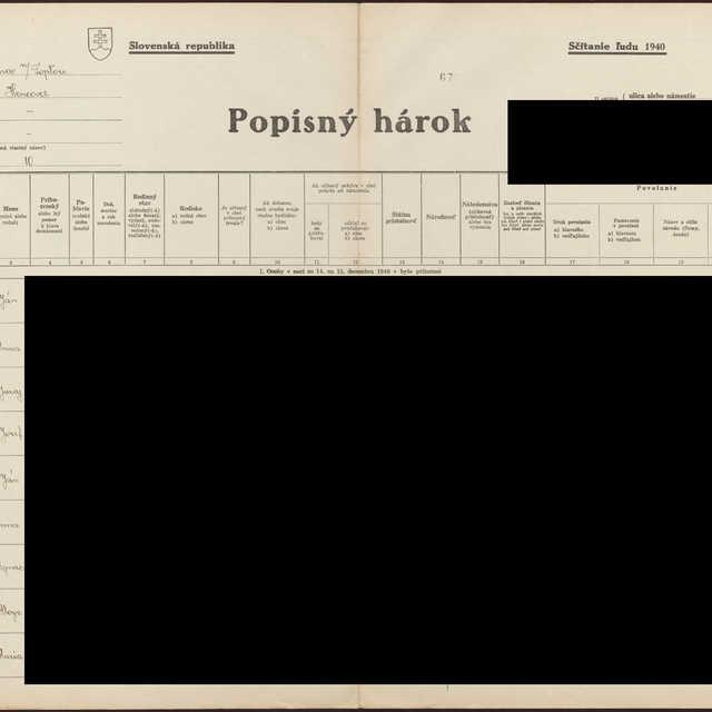 Sčítací hárok 1714/14610, Hencovce (Vranov nad Topľou)