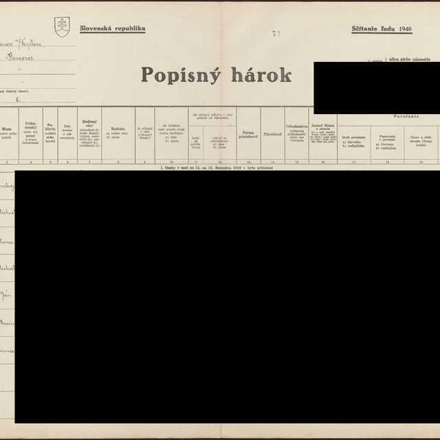 Sčítací hárok 1714/1506, Hencovce (Vranov nad Topľou)