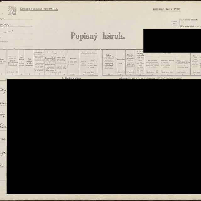 Sčítací hárok 835/11064, Hermanovce (Sabinov)