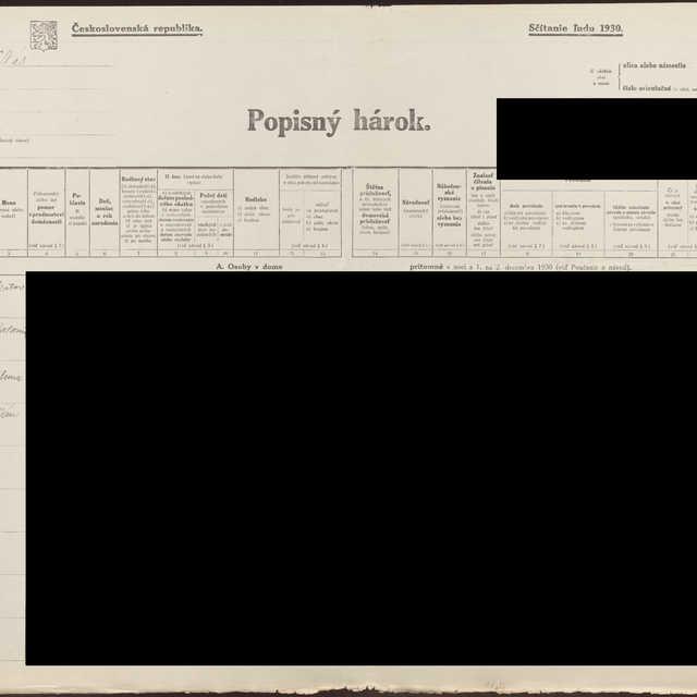 Sčítací hárok 556/400959, Stará Turá (Nové Mesto nad Váhom)