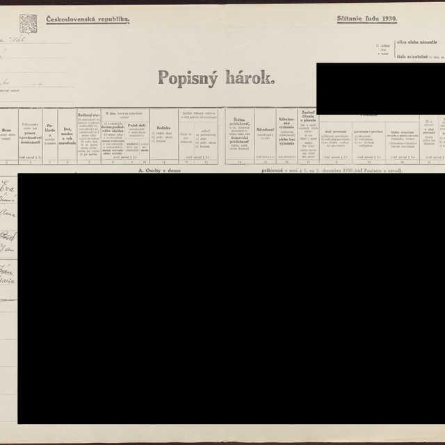 Sčítací hárok 556/405964, Stará Turá (Nové Mesto nad Váhom)