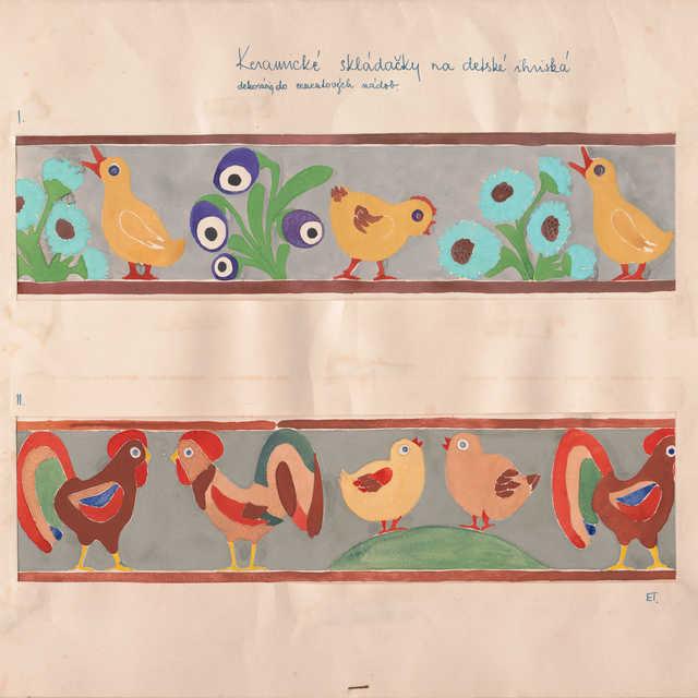 Návrh na keramické skladačky na detské ihriská - dekorácie do cementových nádob