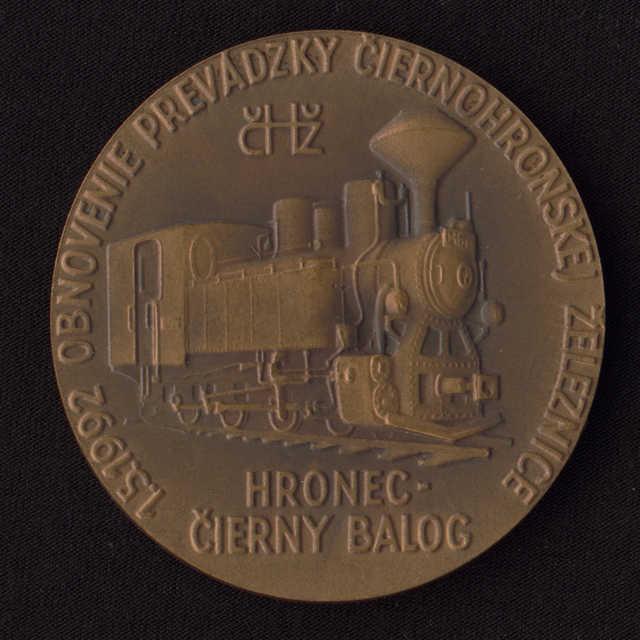 Plaketa - Obnovenie prevádzky čiernohronskej železnice