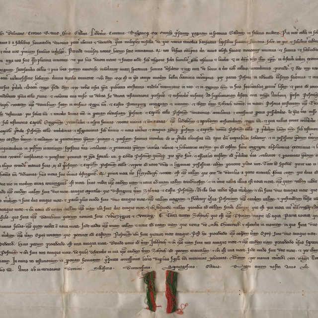 """Listina kráľa Ladislava IV. s iniciálou """"kľačiaceho kráľa"""""""